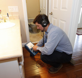 our Seattle plumbing techs use electronic leak detection equipment